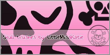 Skull Brushes by LittleMissKatie