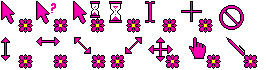 Pink Flower Cursors