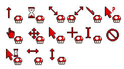 Animated Mushroom Cursors by Rope-Shrine-Maiden