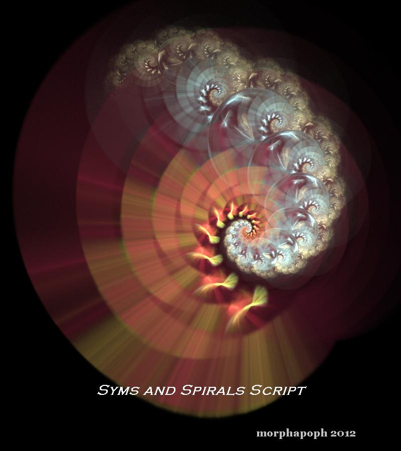 Symmetries and Spirals - Apophysis Script by morphapoph