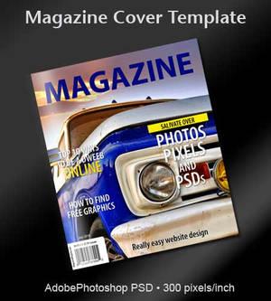 Magazine Cover PSD Template
