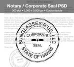 Notary / Corporate Seal PSD