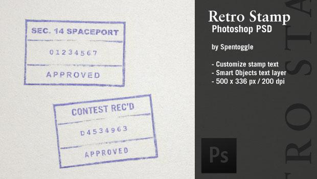 Retro Stamp Photoshop PSD by spentoggle