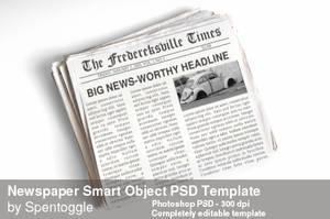 Newspaper Smart Object PSD Template by spentoggle