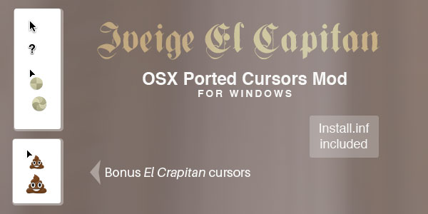 Iveige OSX Cursors Mod for Windows by spentoggle