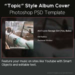 Topic Style Album Cover PSD