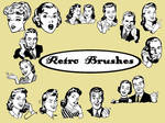 retro brushes
