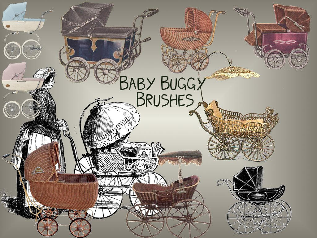 Baby Buggy Brushes by christiegayle