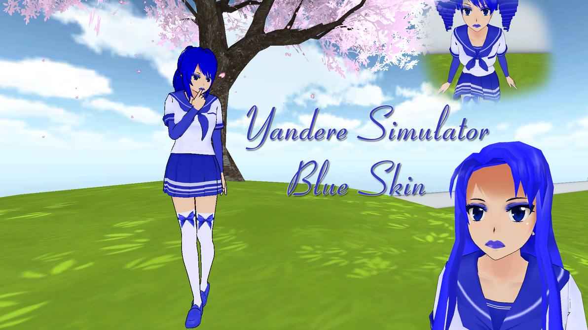yandere simulator skin blue by xx hime sama xx on deviantart. Black Bedroom Furniture Sets. Home Design Ideas