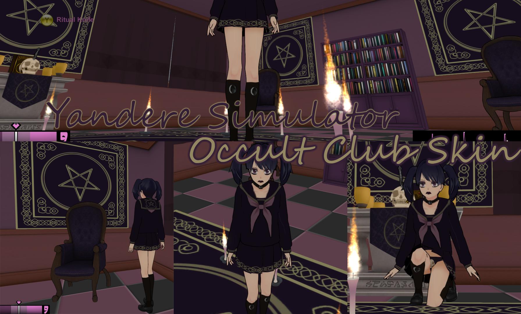 yandere simulator occult club skin by xx hime sama xx on deviantart. Black Bedroom Furniture Sets. Home Design Ideas