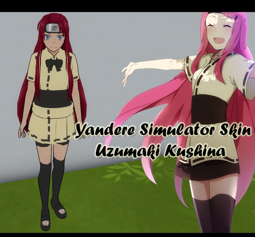 yandere simulator skin uzumaki kushina from naruto by xx hime sama xx on deviantart. Black Bedroom Furniture Sets. Home Design Ideas