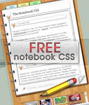 'The Notebook' Free CSS
