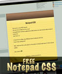 Free Notepad CSS