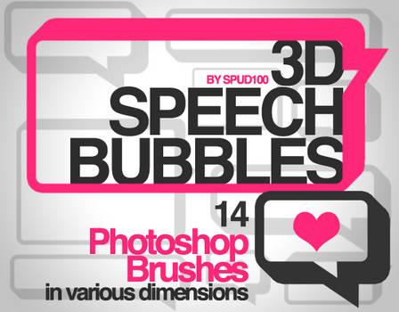 3D Speech Bubble Brushes
