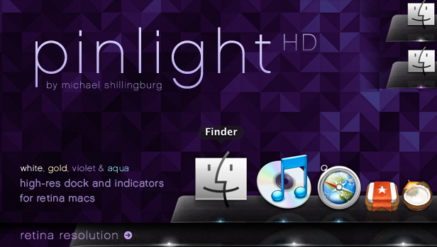 Pinlight HD - A Dock For Retina MacBook Pro's by spud100