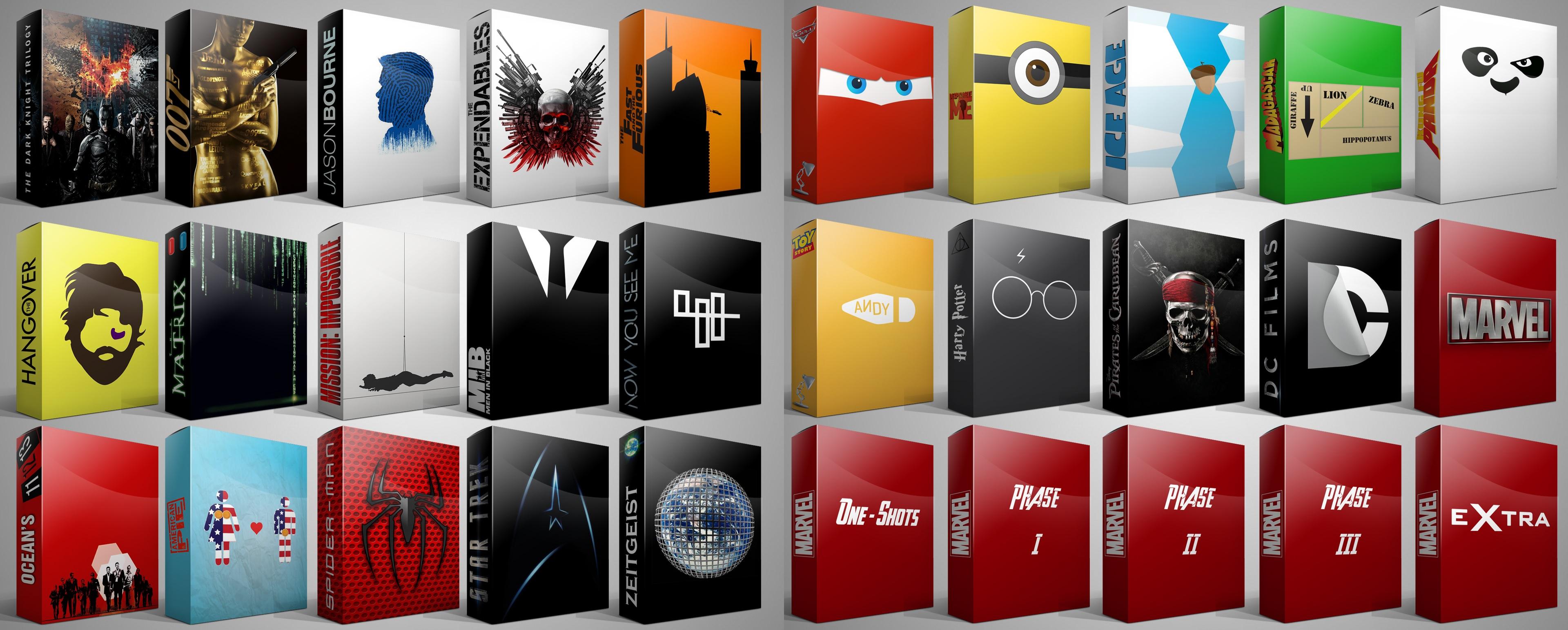 Movies Series Box Set Folder Icons By Drac-69 On DeviantArt