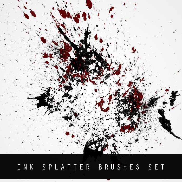 INK SPLATTER BRUSH SET
