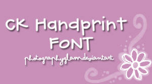 Font CK Handprint