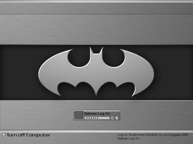 Batman Chrome Log On by Jetsetter