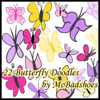 Butterfly Doodles by mcbadshoes