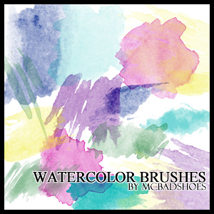 Watercolor Brushes by mcbadshoes on DeviantArt