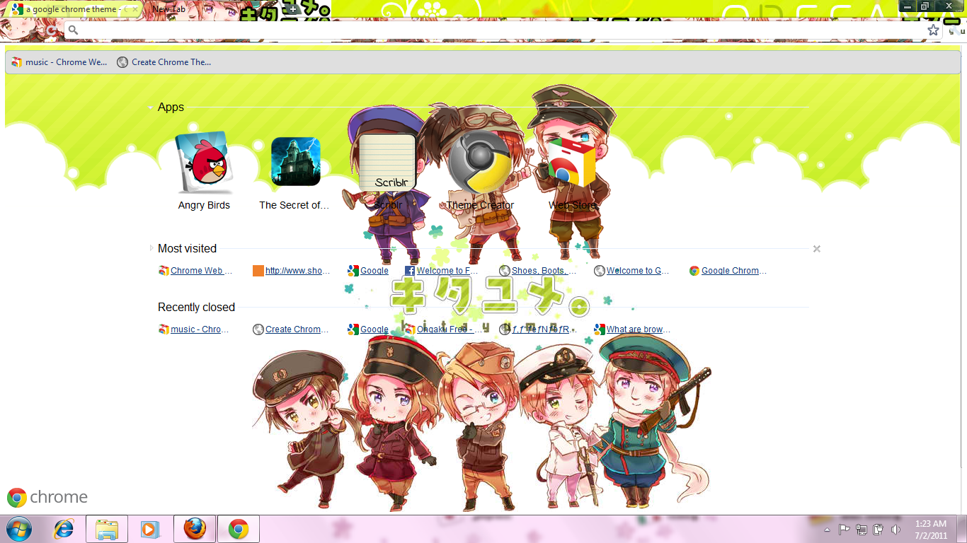 Google chrome themes yaoi - Aph Google Chrome Theme By Ashandsnow