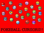 Pokeballs Cursor Set