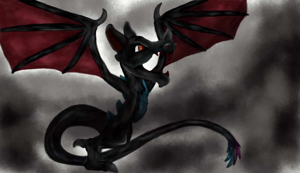 Bat Dragon (FINISHED) (Halloween special) REMAKE by Sama-Lass