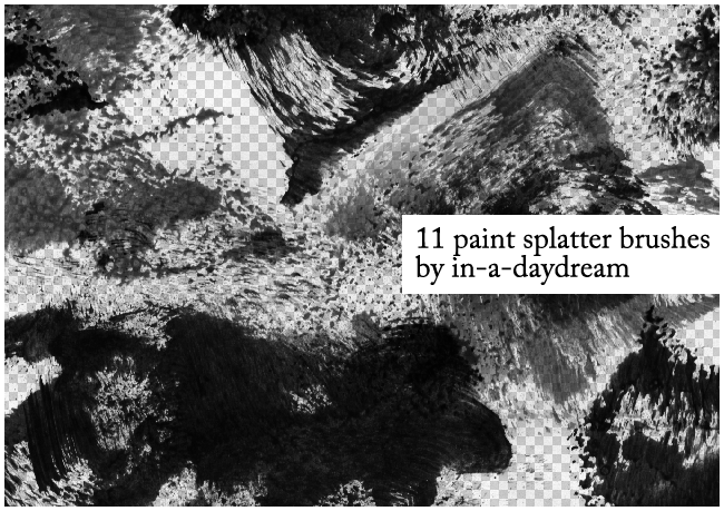 Paint Splatter Brushes by in-a-daydream
