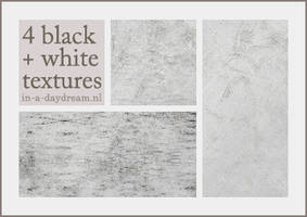 Black and white textures, set1 by in-a-daydream