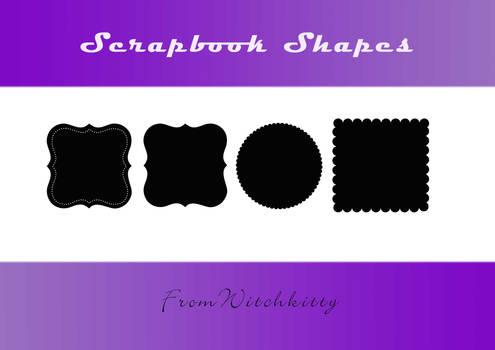 Scrapbooking shapes -fancy