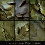 6 Peeling Grunge Paper Texture