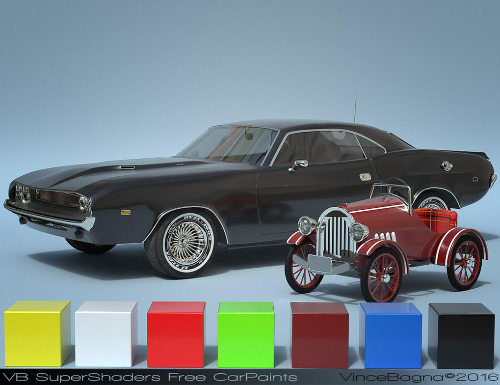 VB SuperShaders Free CarPaint shader by vincebagna