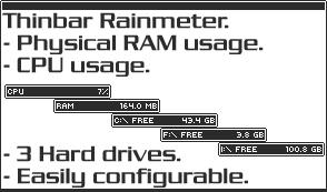Thinbar Rainmeter by ampangel
