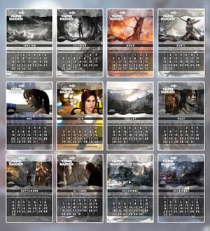 Tomb Raider 2013 - Calendar FR + EN