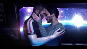Mass Effect - Kaidan and Shepard Kiss