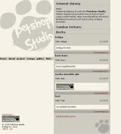 Website Petshop versi 2