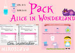 Pack Alice in Wonderland (: