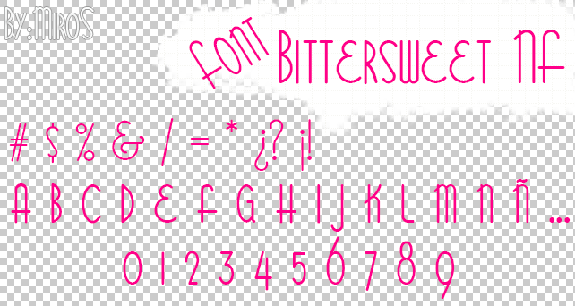 Font Bittersweet NF by craftingandmore
