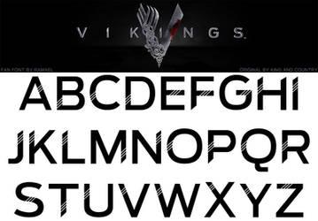 Vikings Fan Font by RamaelK
