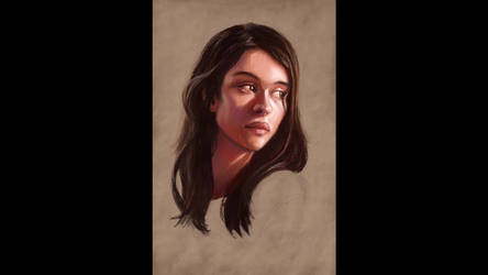 ipad painting demo - portrait of a girl