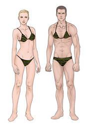 Male Female Semi-realistic bases for sale by DocWendigo