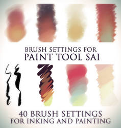Brush settings for Paint tool SAI by DocWendigo