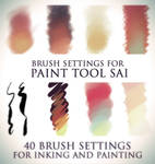 Brush settings for Paint tool SAI
