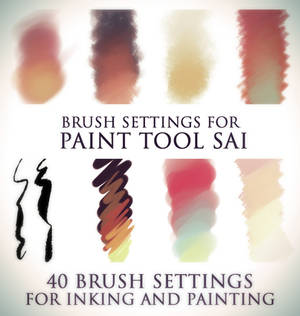 Brush settings for Paint tool SAI