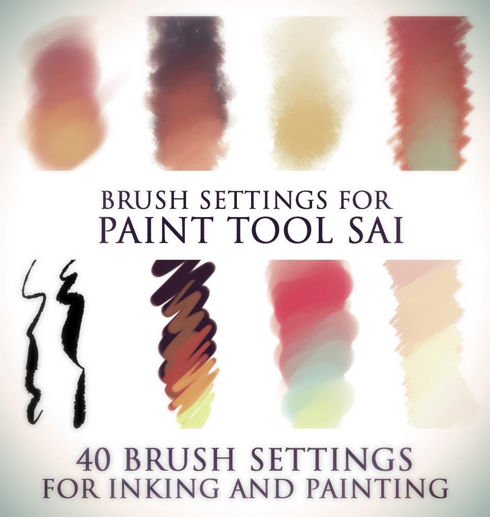 Brush settings for Paint tool SAI by DocWendigo