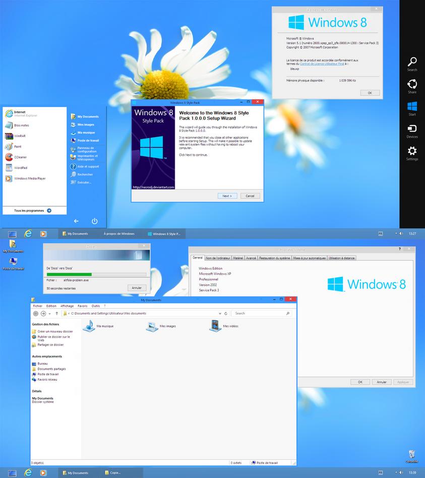 Windows 8 style pack 1 0 xp by nasrodj on deviantart for Windows windows windows