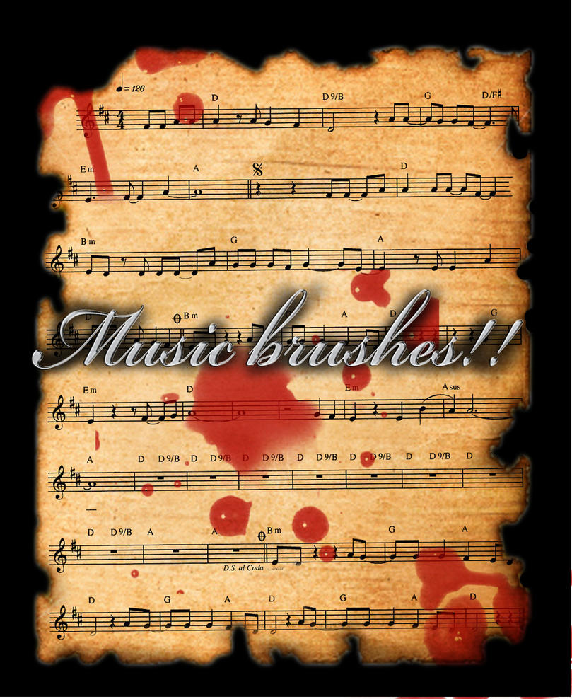 Music brushes by X-Cerberus-X