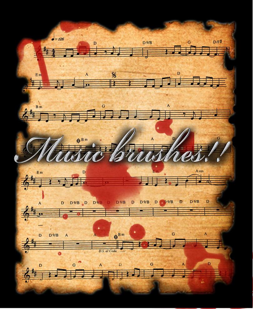 Music brushes by X-Cerberus-X