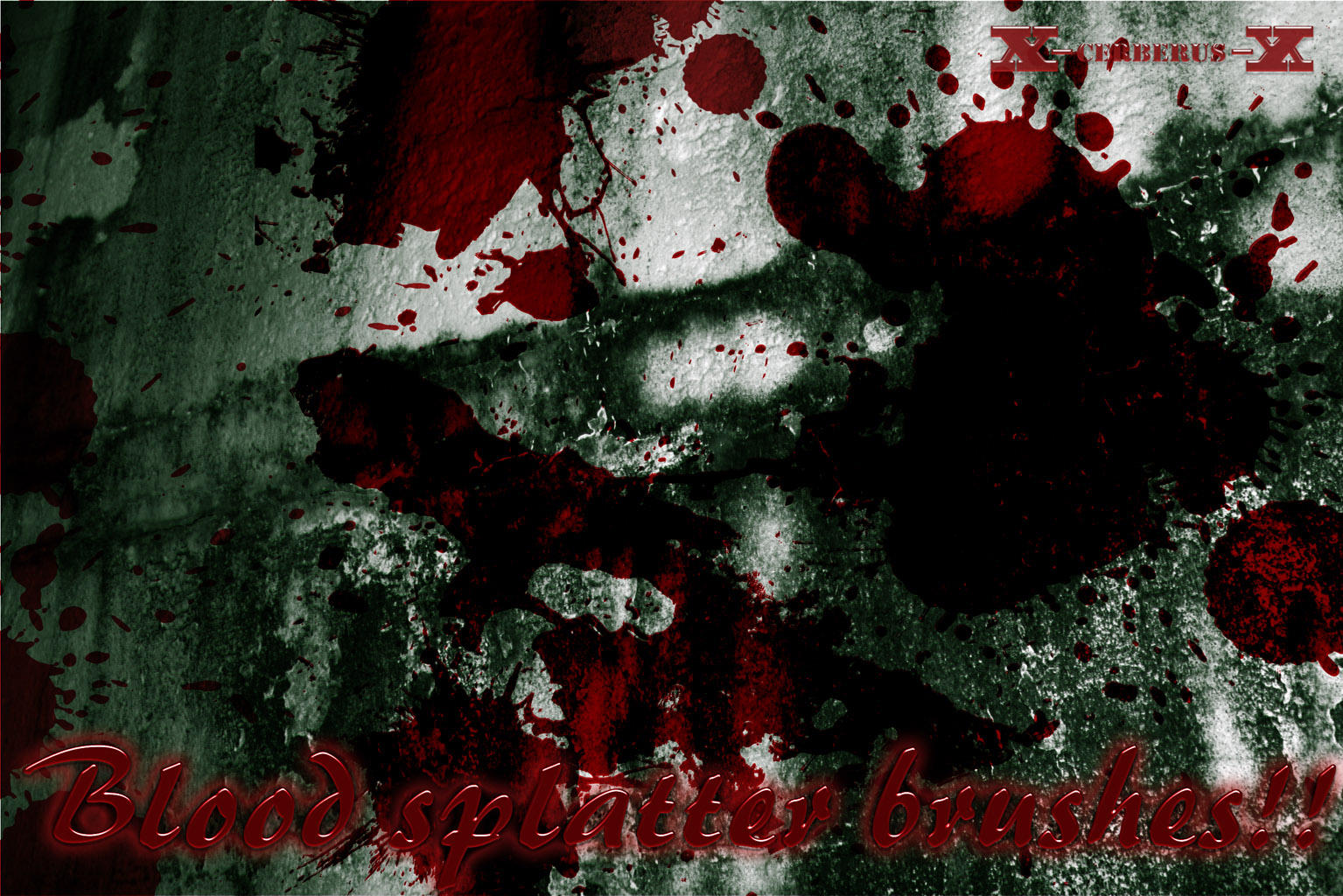 Blood splatter bushes by X-Cerberus-X